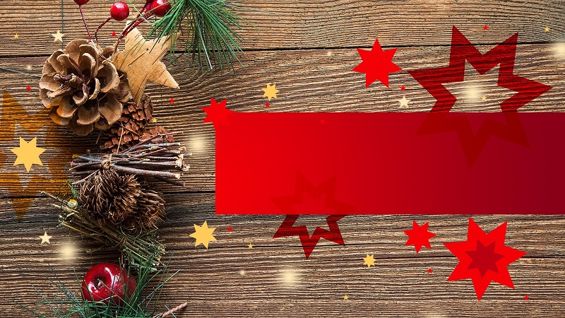 red-decoration powerpoint background template