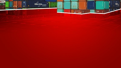 Red-Container Powerpoint background template-2